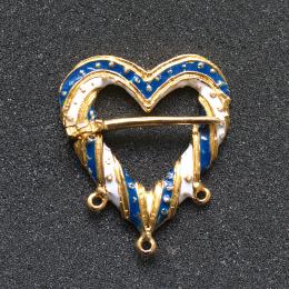 Medieval heart shaped brooch with enamel EA07E