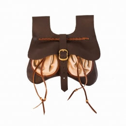 LL01 Medieval kidney pouch with pouchlets