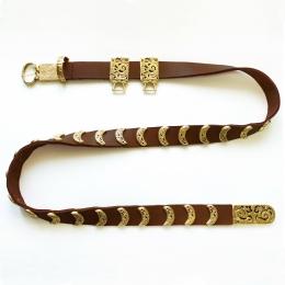 Mongol-Tatar Leather belt from  Krasny Yar, 13 c.