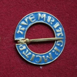 Medieval ring brooch with enamel, Netherlands EA12e